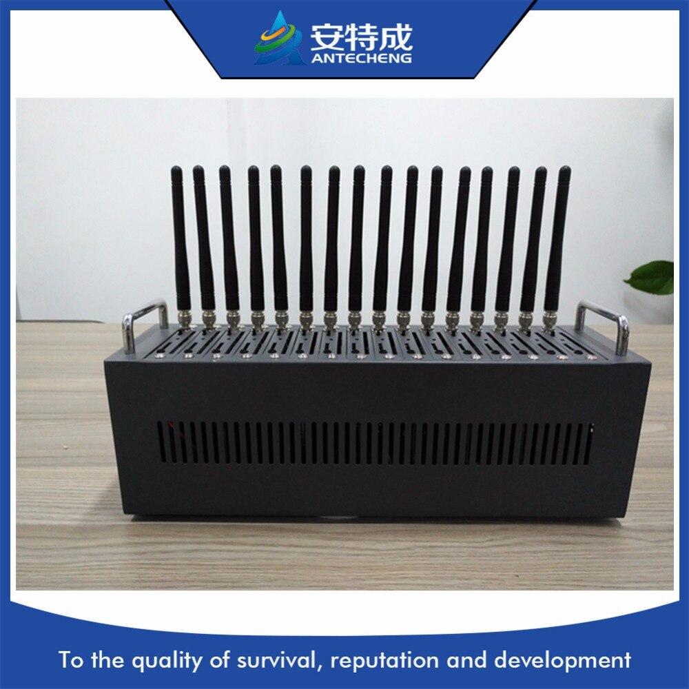 16 puertos 3G modem pool SIM5360E publicidad a granel máquina de envío de voz