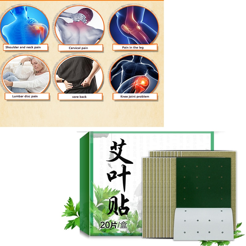 20 unids/set Dropship Extracto de ajenjo cuidado de la salud Detox Moxibustion Relax parche cintura cuello dolor Muscular duro hombro parche