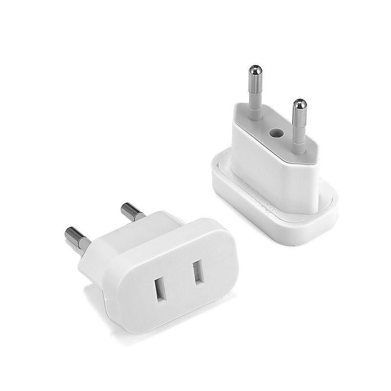 Ons Eu Euro Europa Plug Plug Converter 2 Ronde Plug Ac Converter Travel Adapter Amerikaanse Ons Eu Elektrische socket