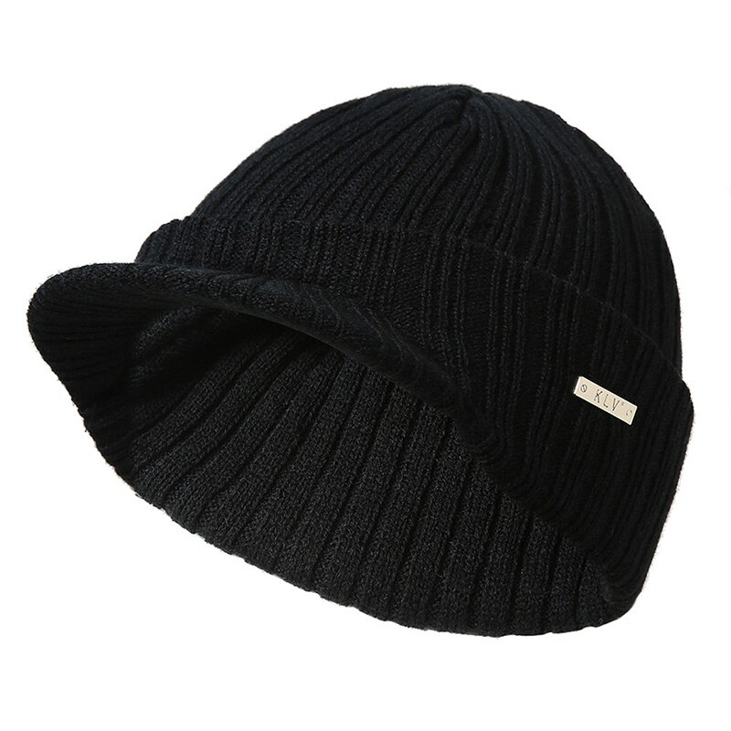 Moda 2019, sombrero de Otoño Invierno para mujer, informal, liso, Unisex, tejido a rayas, visores cálidos suaves, gorra con visera, gorras deportivas para esquiar