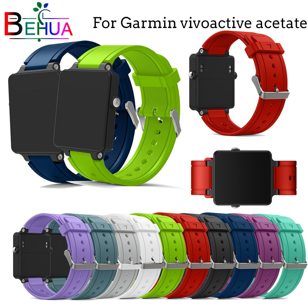 For Garmin vivoactive acetate watch band Silicone band Replacement New sport smart watch wristband watch strap for Garmin straps sport silicone watch band for suunto core smart watch replacement brand new high quality wristband watch belt smart accessories