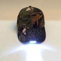 Бейсболка со светодиодной подсветкой, регулируемый колпачок на батарейке с приводом, 5 светодиодный осветильник