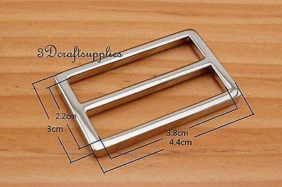 Ajustador de correa rectangular de aleación de níquel 38mm 1 1/2 pulgadas 10 piezas U36