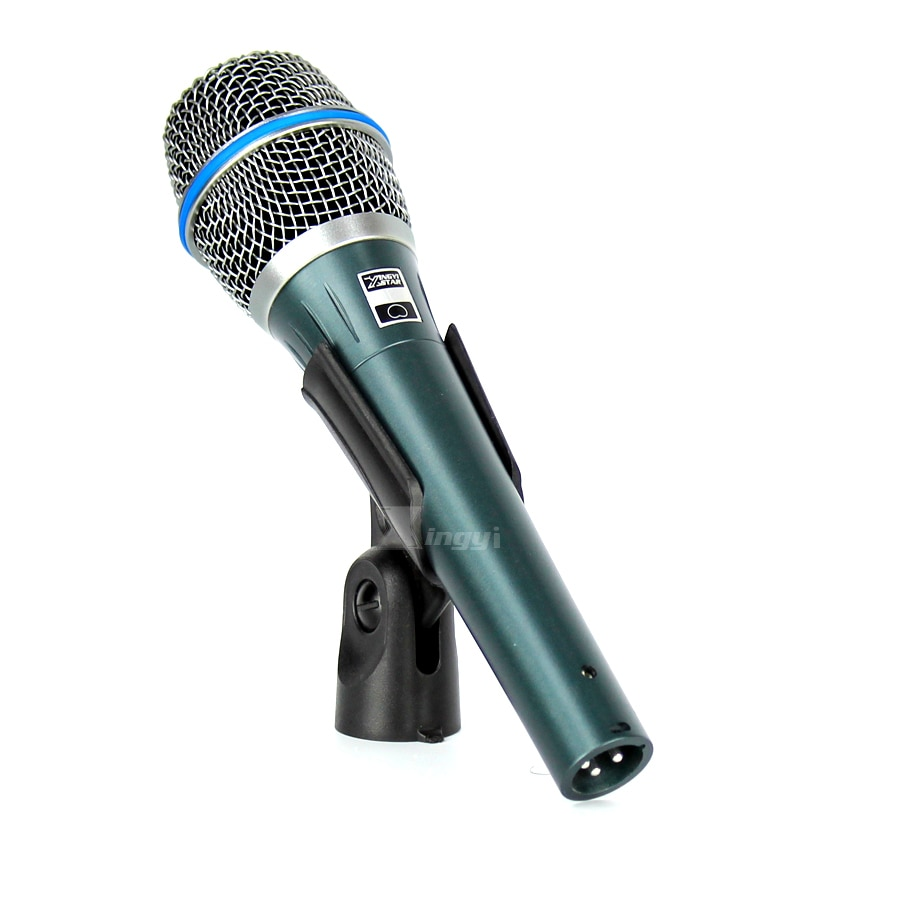 BETA 87A Vocal cable Mic dinámico micrófono de Karaoke de estudio profesional computadora cantando BETA 87 Audio mezclador para bar Club KTV parte