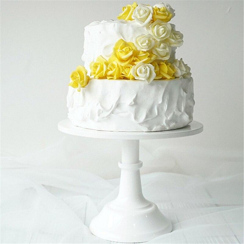 Металлическая настольная круглая подставка для десертов, демонстрационная стойка для кексов, белая посуда для украшения на день рождения, свадьбу-1