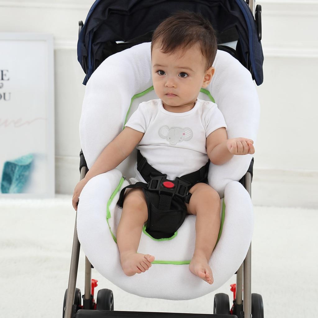 Cojín del asiento de seguridad del coche del bebé carrito de la almohadilla de dormir espesa la almohadilla de protección suave silla con ruedas cojín del asiento de seguridad del niño para 0-2