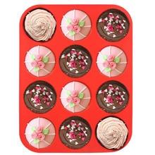 Moule à gâteaux en Silicone de haute qualité   12 tasses, moule à Muffin, tasse de cuisson en Silicone, poêle à Cupcake, moules à Cupcake, accessoires de cuisine de qualité alimentaire #10