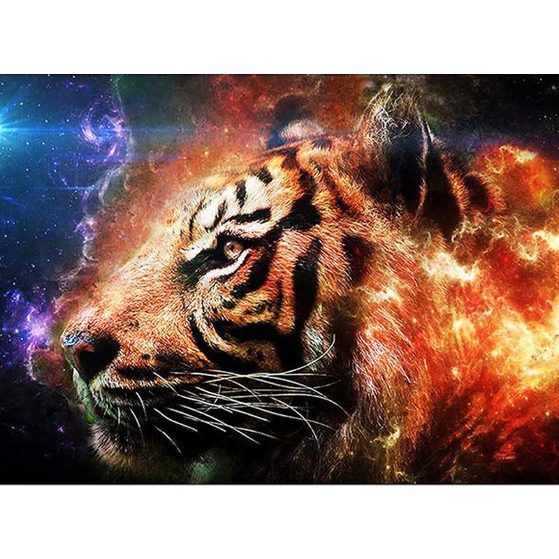 Pinturas de diamantes diy 5d Angry Tiger animales Full Drills strass bordado diamante mosaico Kit Cruz Stitch pared decoración del hogar