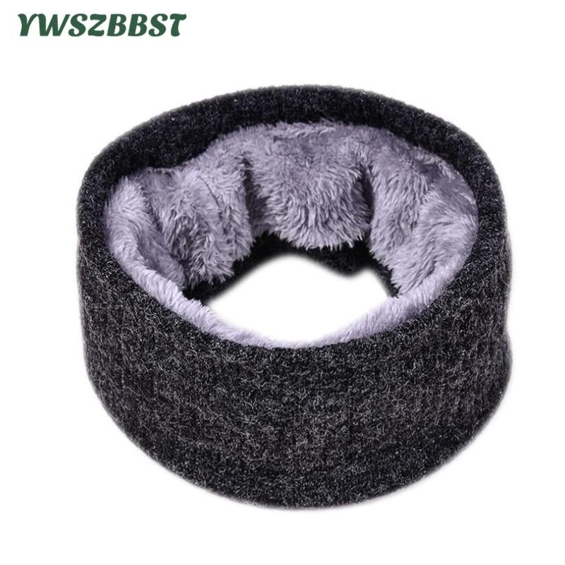 New Autumn Winter Women Crochet Scarf Ring Men Winter Scarves Plus Velvet Wool Scarf Collar Adult Knitted Neck Scarf Unisex