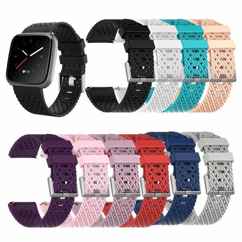 Pulsera para reloj inteligente Fitbit Versa lite, repuesto de correa de silicona para reloj inteligente Fitbit Versa