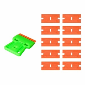 Image 2 - EHDIS автомобиля Оттенок бритвы скребок с пластиковым лезвием виниловой оберточной пленки скребка из углеродного волокна наклейка средство для удаления клея стикер Удалить инструмент