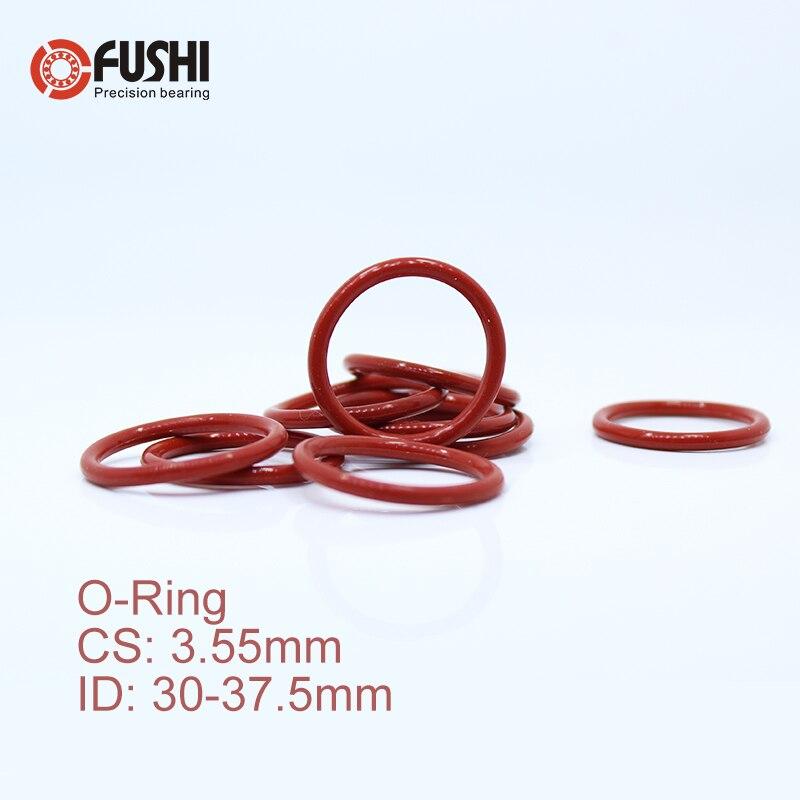 Joint rond en Silicone   Anneau O, ID 30/30, 5/31, 5/32, 5/33, 5*3.55mm 50 pièces VMQ épaisseur du joint, eaux en caoutchouc blanc rouge 3.55mm
