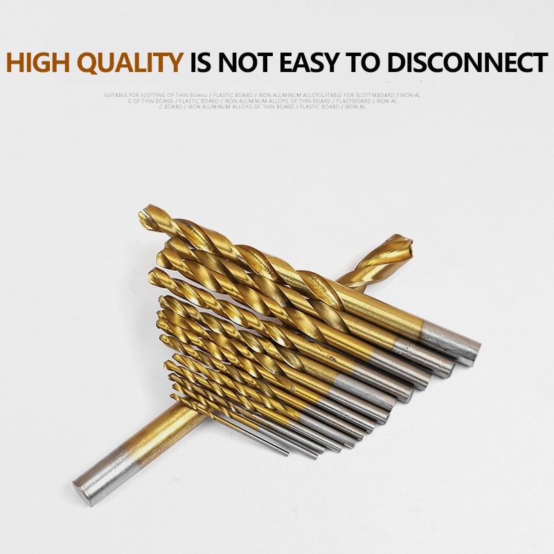 Jeu de 99 forets hélicoïdaux HSS 1.5-10mm, Surface revêtue de titane à 118 degrés pour percer le bois et le métal fin à usage domestique avec boîte