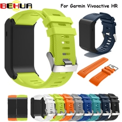 Pulseira de silicone para garmin vivoactive substituição pulseira de pulso com ferramenta pulseira de relógio para vivoactive hr pulseira esporte banda