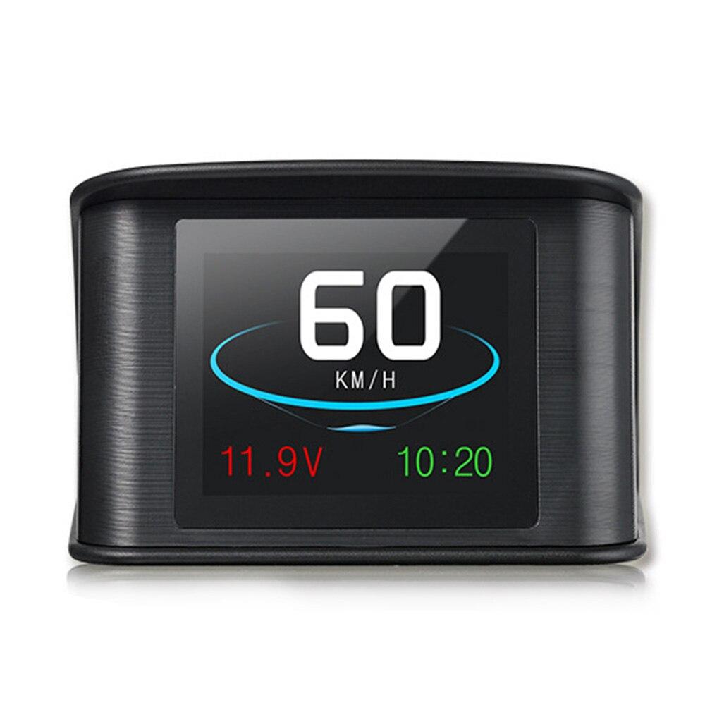 Pantalla frontal de coche Universal HUD T600, velocímetro Digital GPS, velocímetro inteligente, Monitor de velocidad para automóvil que muestra la dirección de conducción del voltaje