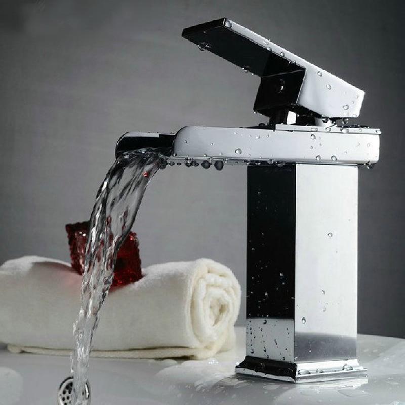 BAKALA single handle bathroom sink waterfall faucet, waterfall basin mixer taps, lavatory basin mixer tap, bathroom sink faucet