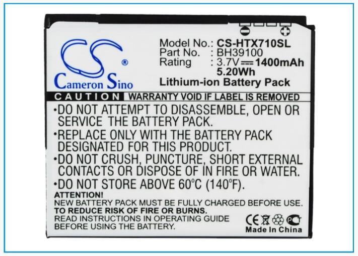 Cameron Sino batería de 1400 mAh para AT&T Vivid 4G de GOOGLE para GOOGLE G20 35H00167-00M 35H00167-01M 35H00167-03M BH39100 para HTC G20