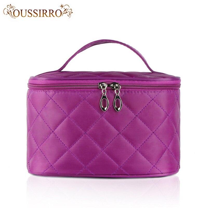 High-capacity women fashion beauty makeup bags Lingge cosmetic bags folding trip waterproof portable