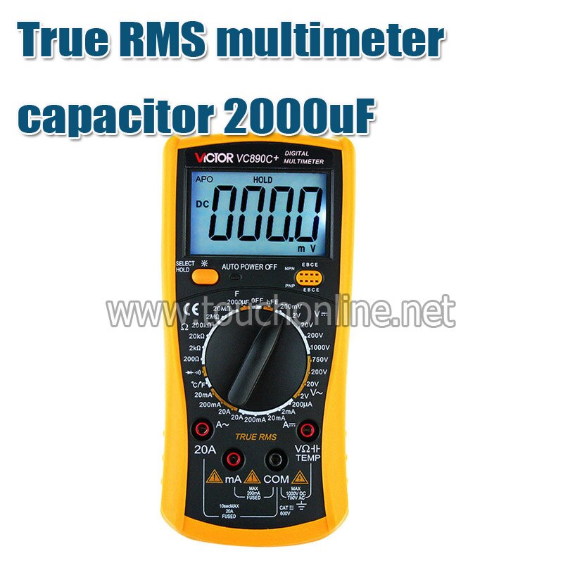 Multímetro Digital True Capacitor 2000 uf Backlight Ferramentas Tvc890d Rms