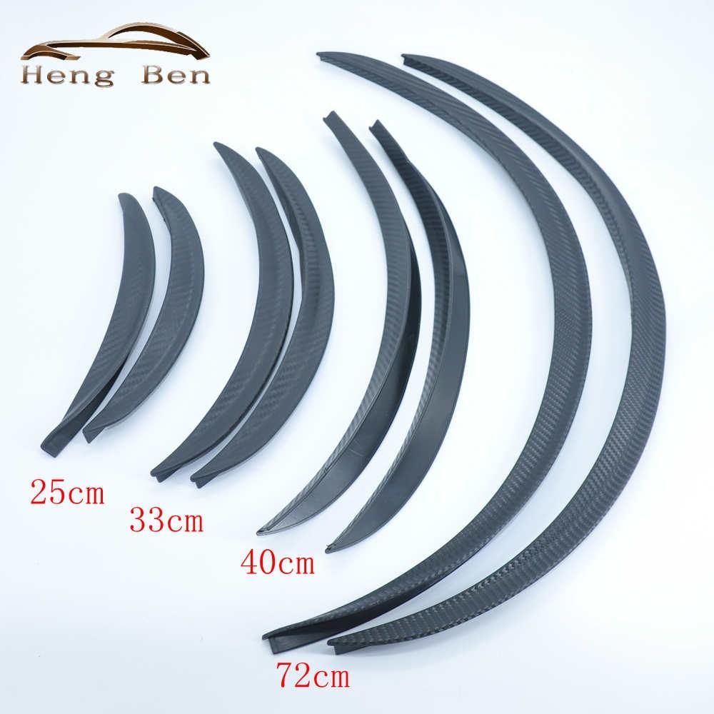 HB 2 unids/set de fibra de carbono estilo Fender bengalas arco Universal rueda cejas proteger Ant-Scratch