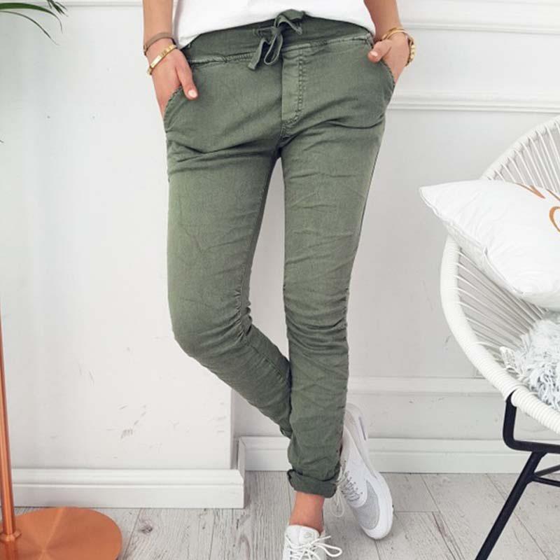Women Pencil Pants Fashion Plus Size Female Trousers Women 2017 Long Pants For Ladies Casual Slim Capris WS3432V