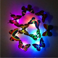 Wall Sticker Wall Decor Colorful Changing Butterfly LED Night Light Lamp Home Room Party Desk Decorations home decor 415