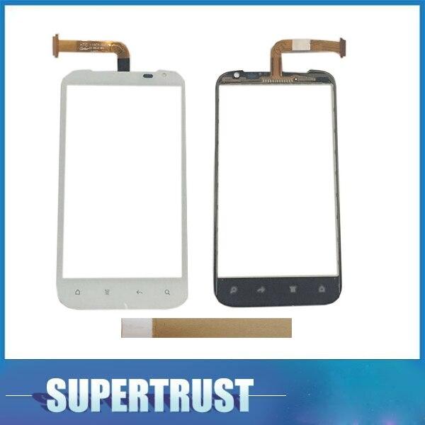 Alta calidad 4,7 pulgadas para HTC G21 sensación XL digitalizador de pantalla táctil Lente de Cristal frontal de Sensor Color blanco negro con la cinta