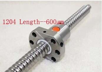 Acme-مسامير كروية SFU1204 ، قطر 12 مللي متر ، طول 4 مللي متر ، 600 مللي متر مع صامولة كروية ، أجزاء طابعة ثلاثية الأبعاد CNC