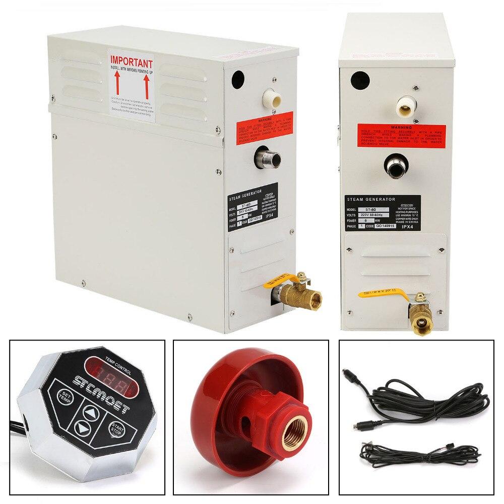 6KW générateur de vapeur 1 PHASE CE approuvé minuterie contrôle réglable température nouveau