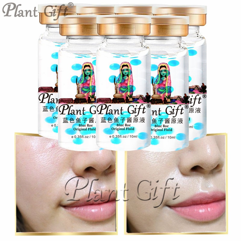 Plant Gift Hot Sale Blue Roe Original Liquid Bright White Moisturizing Hydrating Remove Wrinkles Skin Care Whitening 10ml*7pcs