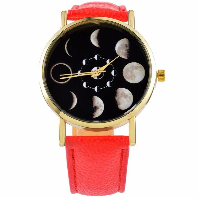CMK superior de lujo de los hombres con estilo reloj caso Moon Change fase Lunar Eclipse Unisex de las mujeres del cuarzo reloj Relogio masculino 2018 reloj