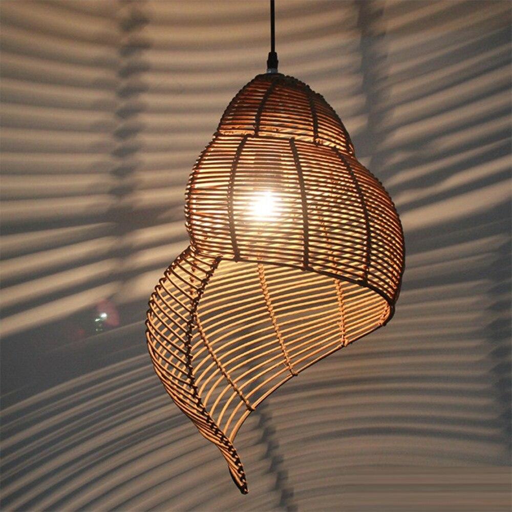 مصباح معلق LED على شكل حلزون ، تصميم إبداعي من جنوب شرق آسيا ، مثالي لغرفة الدراسة ، والمطعم ، إلخ.