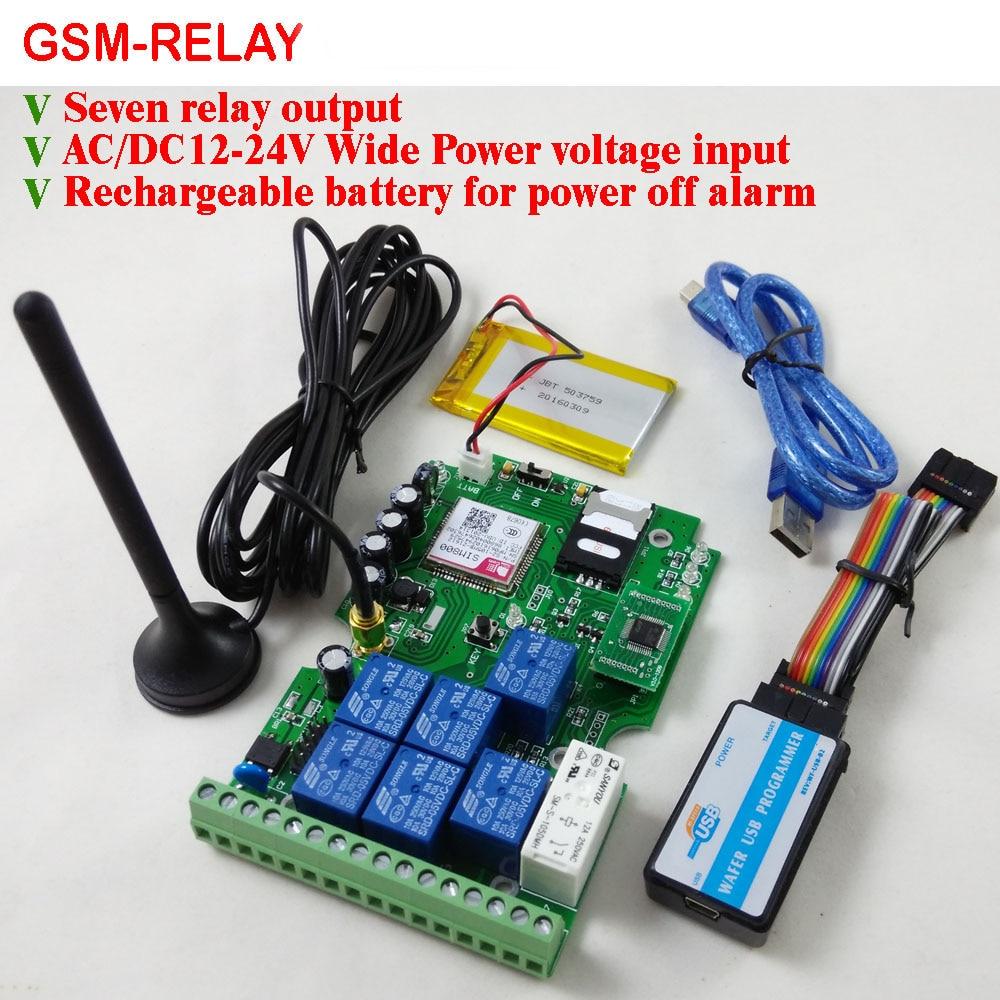 لوحة تحكم عن بعد لمخرج GSM رباعي الموجات ، مع سبعة مرحلات ، ومفتاح في الوقت الفعلي ، مصممة لدعم التطبيق ، شحن مجاني