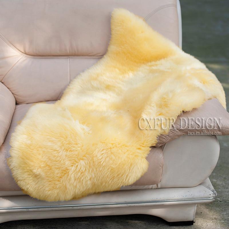 Alfombra de oveja australiana de CX-D-112D 70x110cm 1P para alfombras de dormitorio o sala de estar