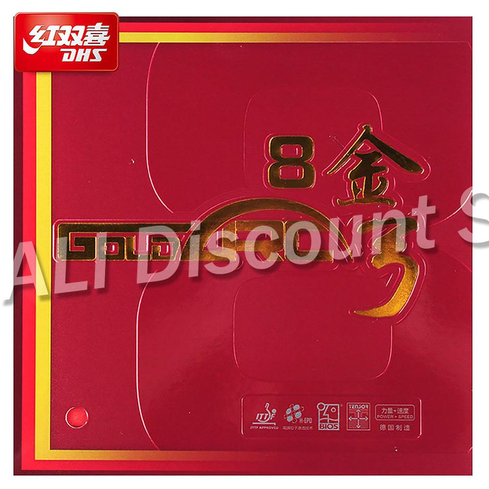 Original DHS GoldArc 8 Table Tennis Rubber rubber Pimples In Ping Pong Germany Rubber with Sponge IT