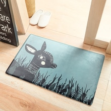 Cartoon Cute Absorbent Carpet Forest Deer Rabbit Cat  Bathroom Bedroom Doormat Floor Non-slip Rug