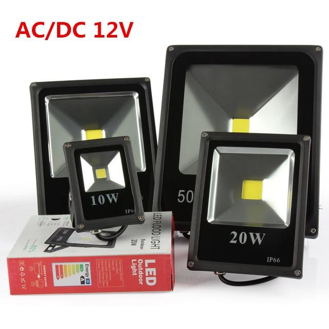 DHL free shipping led Flood Light 10W 20W 30W 50W 12V 24V DC Waterproof IP65 Floodlight Spotlight Outdoor Lighting 10pcs/lot
