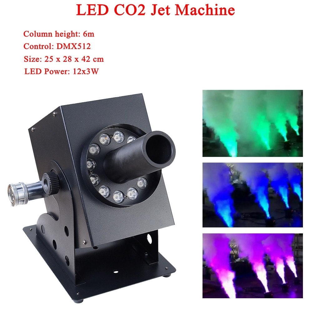 NEW Stage Disco Dj Equipment LED 12 x 3W RGB 3IN1 Led Lamp Co2 Jet Machine Column Height 6 M For Party Bar Stage Performance disco dj light co2 gun pistola co2 rgb gun co2 airsoft air guns jet machine for christmas halloween wedding party stage effect