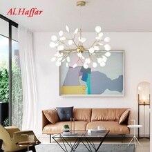 Moderne LED luciole lustre lumière arbre branche cuisine Restaurant Bar lustre salon éclairage Art décor luminaire