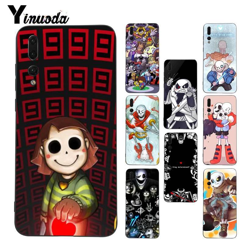 Yinuoda Undertale papiro Sans Doggo Coque del teléfono de Shell funda para Huawei P9 Lite P10 más Mate9 10 Mate10 Lite P20 Pro Honor10 View10