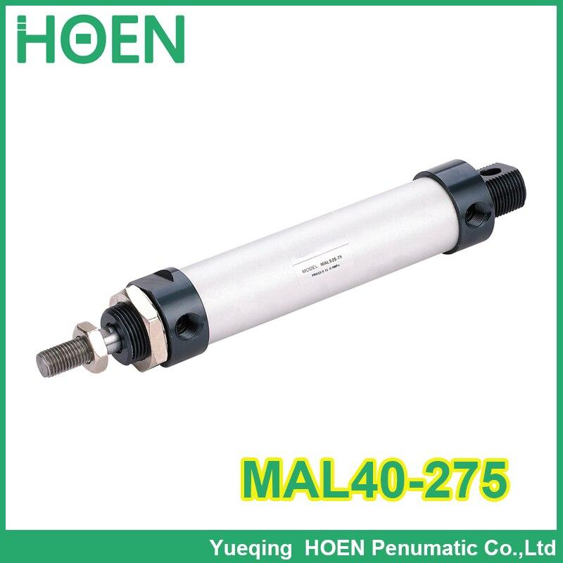 MAL40-275 de alta calidad de doble acción de cilindros pequeños de aleación de aluminio 40mm de diámetro 275mm de carrera mini cilindro de aire