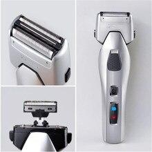 Homem navalha barbeador elétrico lavável rosto viagem grooming removedor de máquina de cortar cabelo aparador de barba barbear homens bigode barba haircutter