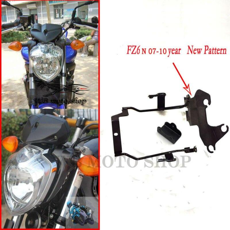 NEW black Bracket Headlight Meter Bracket  Upper Side For Yamaha FZ6-N FZ6N 2007 2008 2009 2010 FZ 6N new pattern Motorcyle