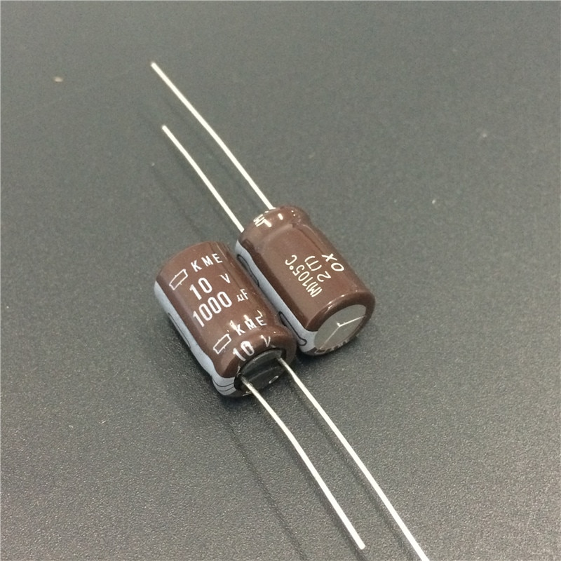 10 Uds 1000uF 10V NCC de Japón KME serie 10x16mm 10V1000uF placa base condensador electrolítico