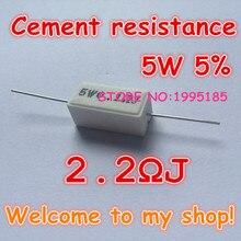 10 adet/grup 5 W 5% 2.2R J 2.2 Ohm Seramik Çimento Güç Direnci