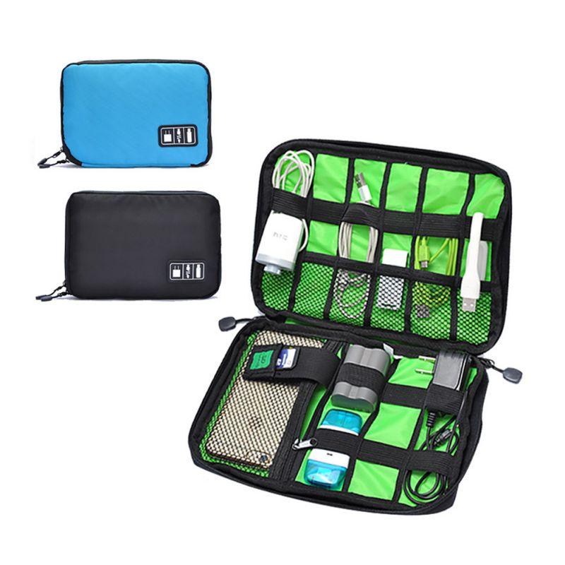 Fashion Organizer System kit case USB data cable earphone wire pen power bank storage bag digital gadget devices travel