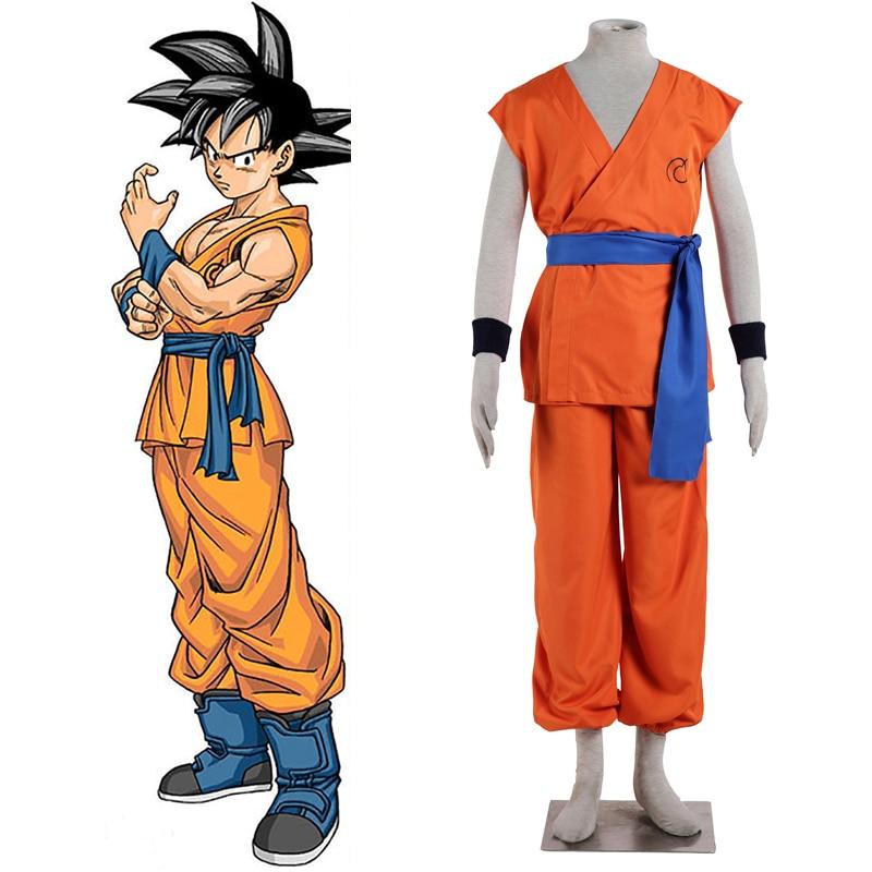 Anime dragon ball z goku super saiyan deus super saiyan kakarotto cosplay traje marca registrada tempo patroller formação uniforme