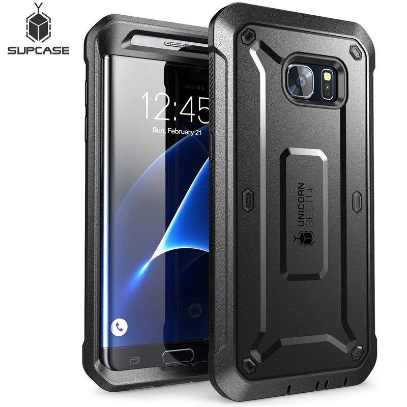 Funda SUPCASE para Samsung Galaxy S7Edge, funda resistente de cuerpo completo de la serie UB Pro, funda sin Protector de pantalla incorporado