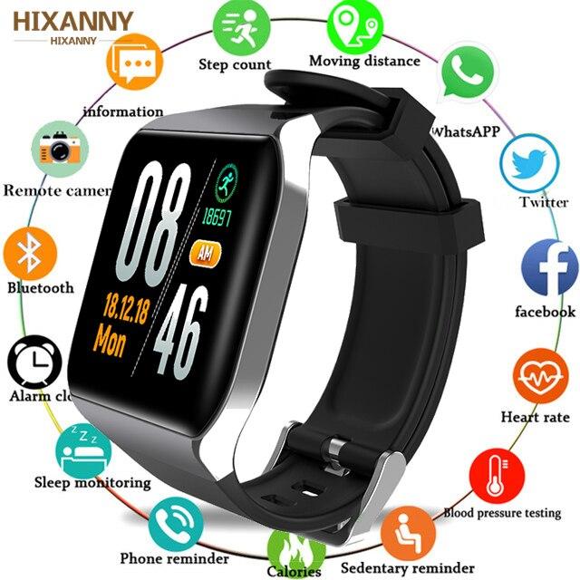 Pulsera inteligente a la moda novedosa con Monitor de ritmo cardíaco, salud, deporte, correr, Fitness, pulsera, reloj inteligente para hombres y mujeres