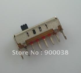 200 piezas interruptor deslizante de agujero pasante vertical 1P4T Rohs 6pin interruptor de palanca interruptor deslizante ROHS